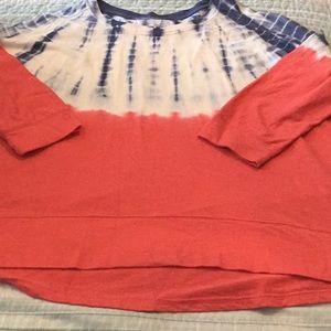 Sonoma lightweight Sweatshirt 2 Tone with Tie Dye